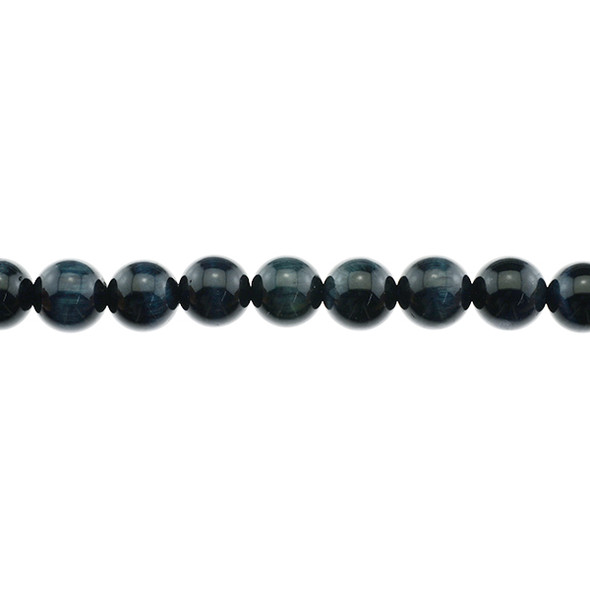 Blue Tiger Eye A Round 12mm - Loose Beads