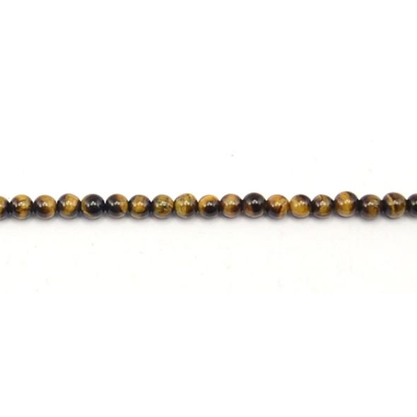 Tiger Eye Round 4mm - Loose Beads