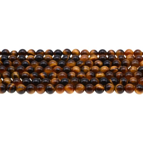 Tiger Eye Round 6mm - Loose Beads