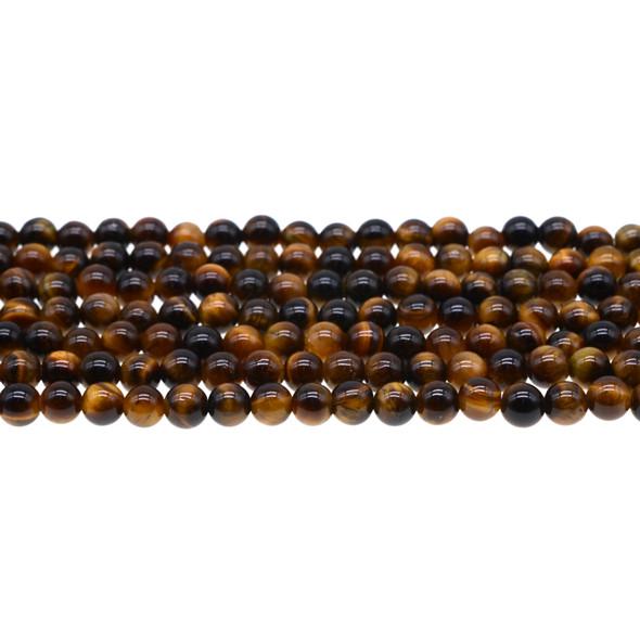 Tiger Eye Round AB Round 6mm - Loose Beads