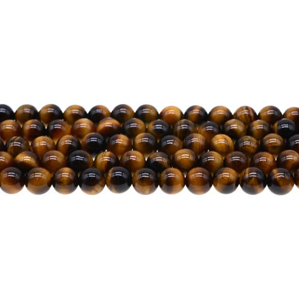 Tiger Eye Round 8mm - Loose Beads