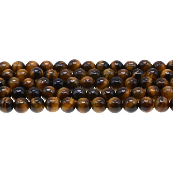 Tiger Eye Round AB Round 8mm - Loose Beads