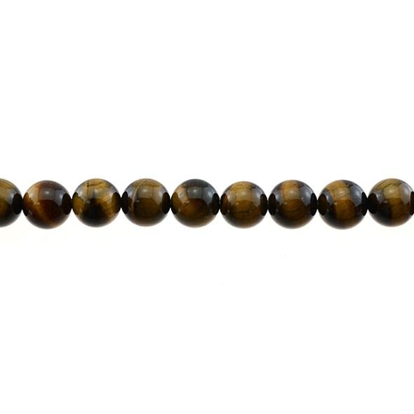 Tiger Eye Round 10mm - Loose Beads