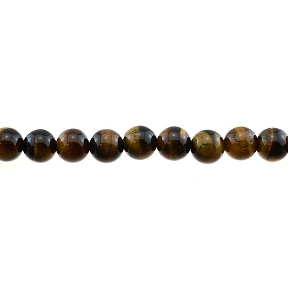 Tiger Eye Round AB Round 10mm - Loose Beads