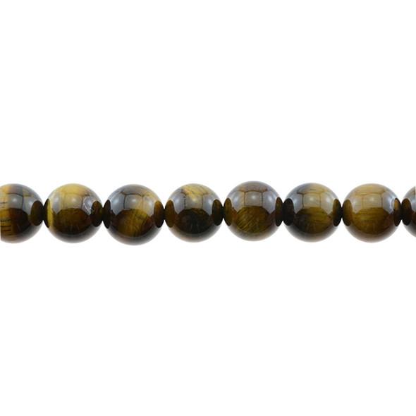 Tiger Eye Round 12mm - Loose Beads
