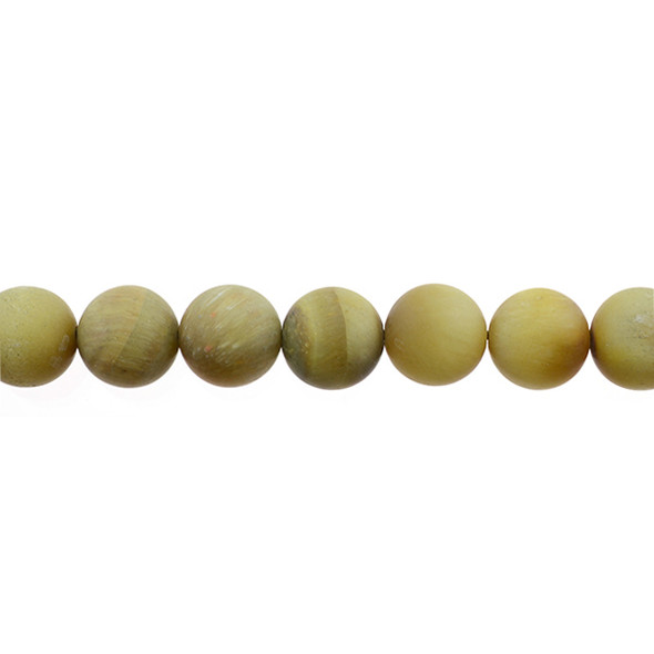 Golden Tiger Eye Round Frosted 10mm - Loose Beads