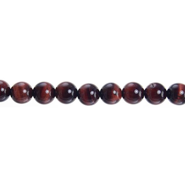 Red Tiger Eye Round 10mm - Loose Beads