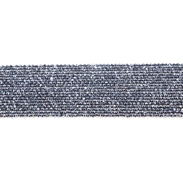 Terahertz Round Faceted Diamond Cut 2mm - Loose Beads