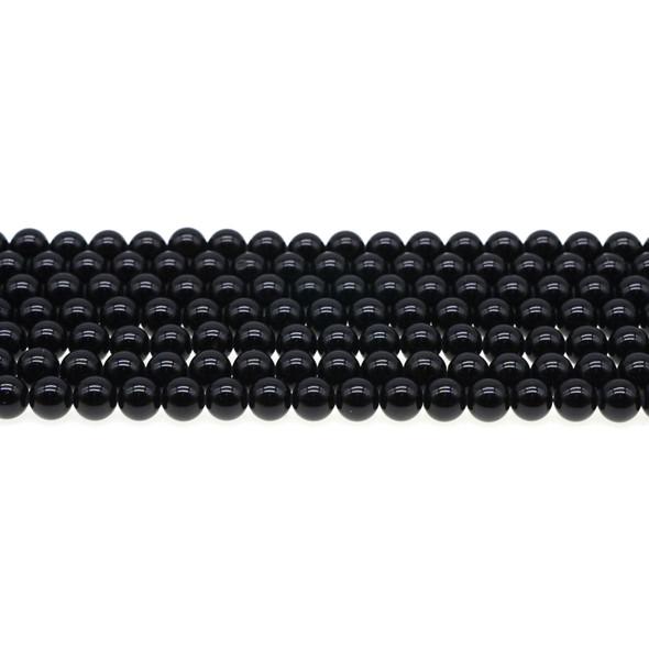 Black Tourmaline Round 6mm - Loose Beads