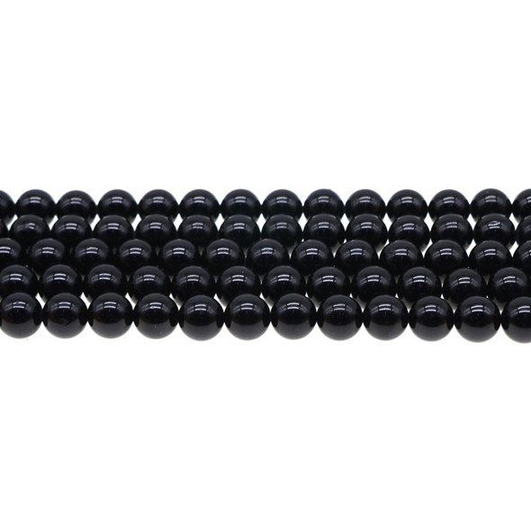 Black Tourmaline Round 8mm - Loose Beads