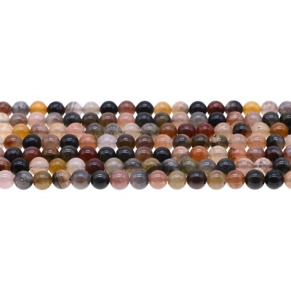 Chinese Phantom Tourmaline Round 6mm - Loose Beads
