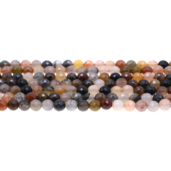 Chinese Phantom Tourmaline Round Faceted 6mm - Loose Beads