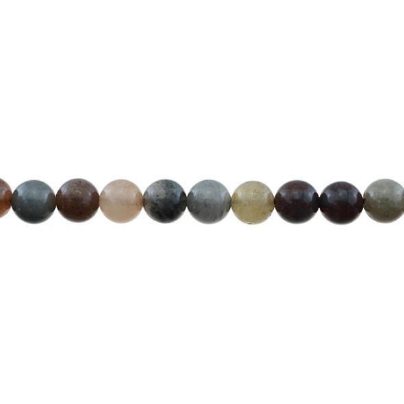 Chinese Phantom Tourmaline Round 8mm - Loose Beads