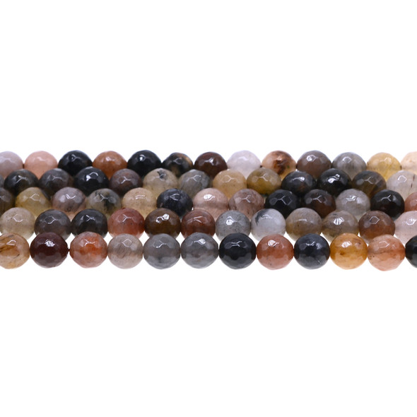 Chinese Phantom Tourmaline Round Faceted 8mm - Loose Beads