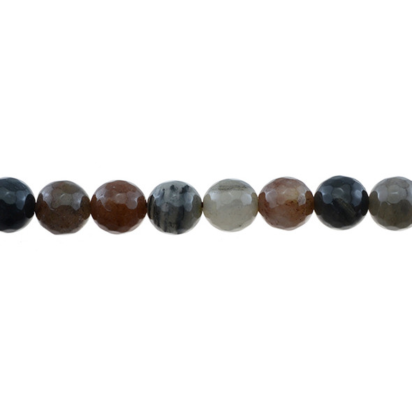 Chinese Phantom Tourmaline Round Faceted 10mm - Loose Beads