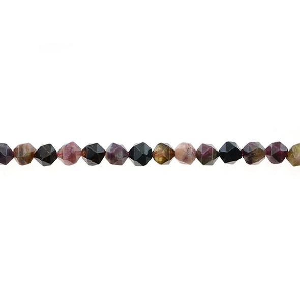 Multicolor Tourmaline Round Large Cut 6mm - Loose Beads