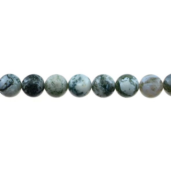 Tree Agate Round 10mm - Loose Beads