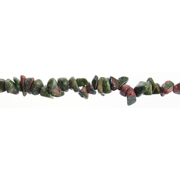 Unakite Chips 7mm x 7mm x 5mm - Loose Beads