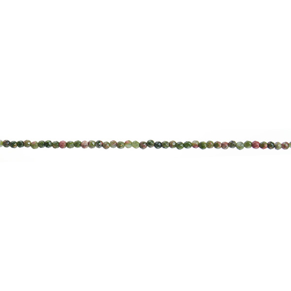 Unakite Round Faceted 2mm - Loose Beads