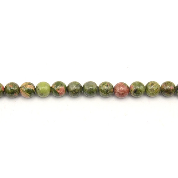 Unakite Round 6mm - Loose Beads