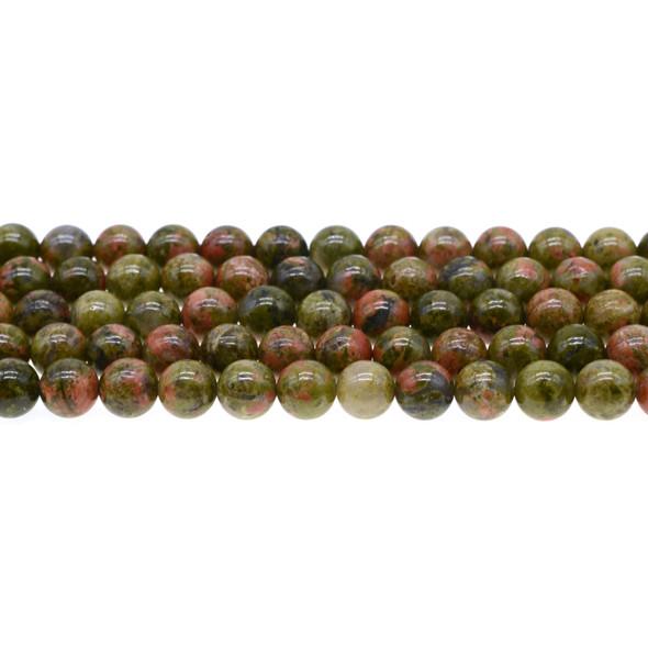 Unakite Round 8mm - Loose Beads