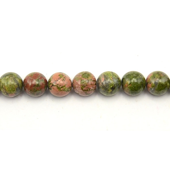Unakite Round 10mm - Loose Beads