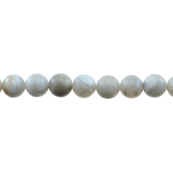 White Crazy Lace Agate Round 10mm - Loose Beads