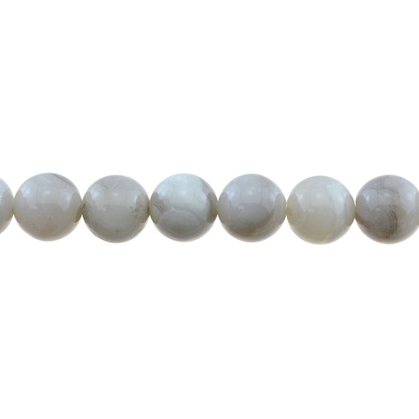 White Crazy Lace Agate Round 12mm - Loose Beads