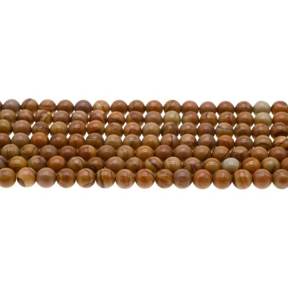 Wood Jasper Round 6mm - Loose Beads