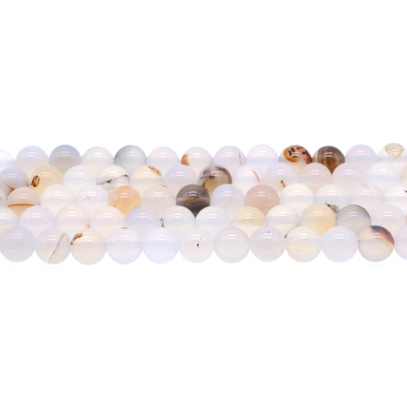 White Moss Agate Round 8mm - Loose Beads