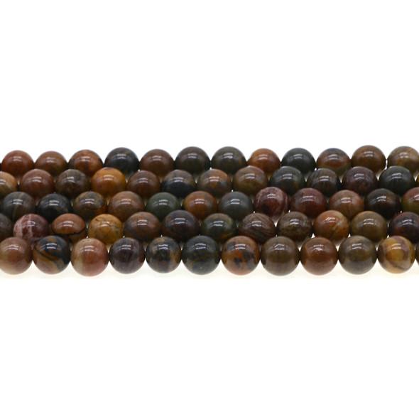 Wealth Stone Jasper Round 8mm - Loose Beads