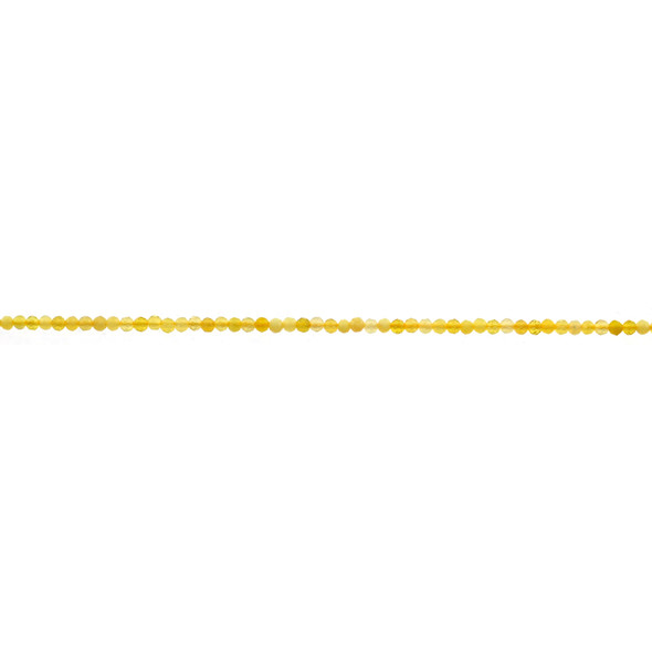 Yellow Opal Round Faceted Diamond Cut 2mm - Loose Beads