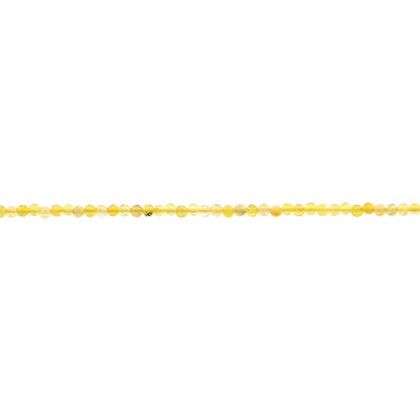 Yellow Opal Round Faceted Diamond Cut 3mm - Loose Beads