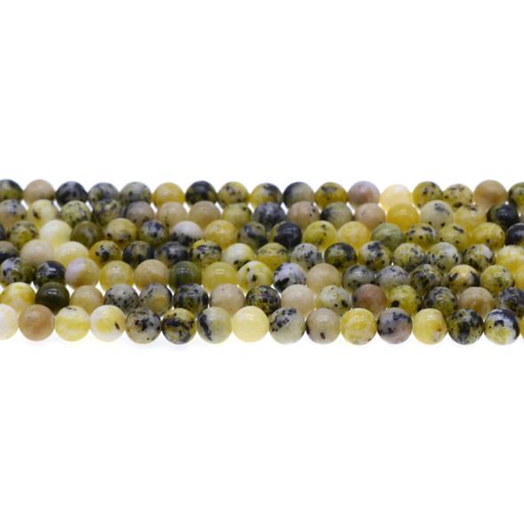 Yellow Turquoise (Serpentine Quartz) Round 6mm - Loose Beads