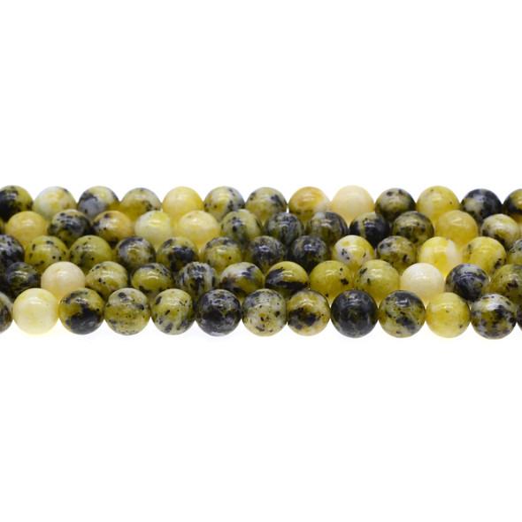 Yellow Turquoise (Serpentine Quartz) Round 8mm - Loose Beads