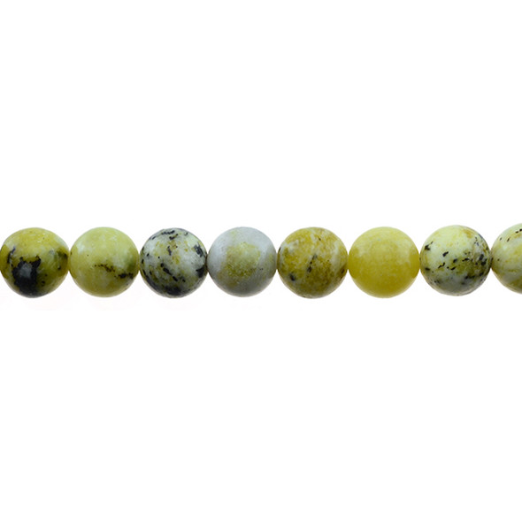 Yellow Turquoise (Serpentine Quartz) Round 10mm - Loose Beads
