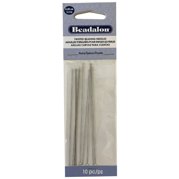 Twisted Beading Needles, Asian, Heavy, .019 in (.49 mm), 10 pc