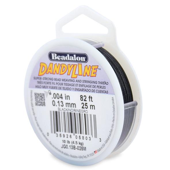 Dandyline, 0.13 mm (.004 in) Black, 25 m (82 ft)