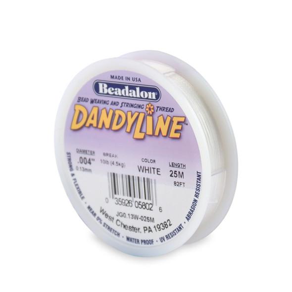 Dandyline, 0.13 mm (.004 in), White, 25 m (82 ft)