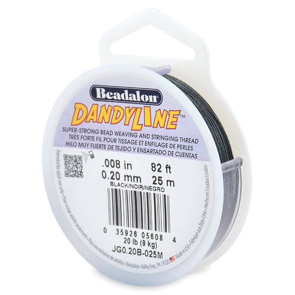 Dandyline, 0.20 mm (.008 in), Black, 25 m (82 ft)