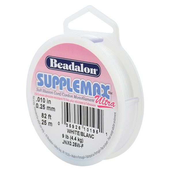 Supplemax Ultra, 0.25 mm (.010 in), White, 25 m (82 ft)