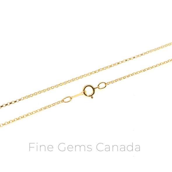 """14K Gold Filled - Rolo Chain 16"""" (1.1mm) - 1/Pack"""
