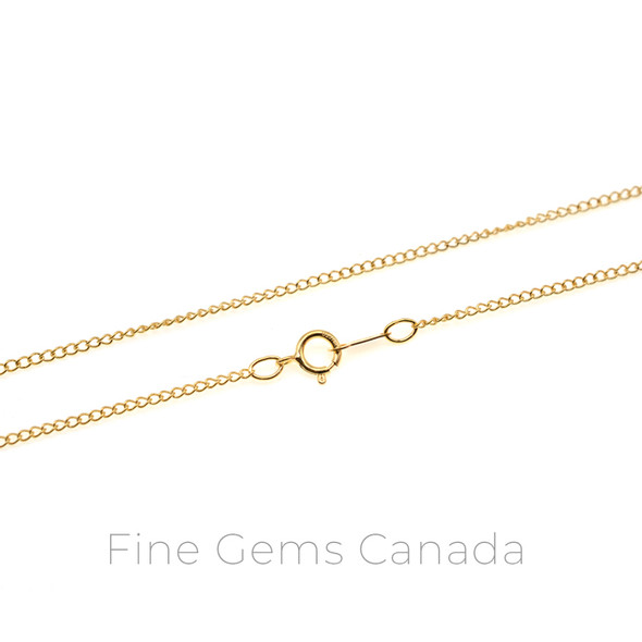 """14K Gold Filled - Curb Chain 18"""" (1.5mm) - 1/Pack"""