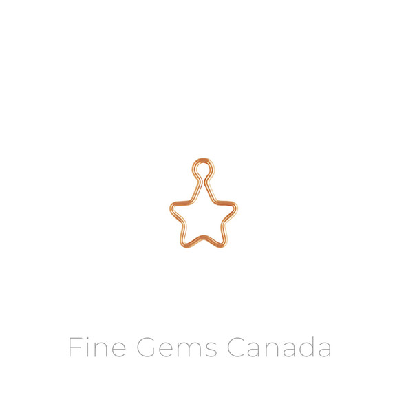 14K Rose Gold Filled - Wire Star Charm (10mm) - 6/Pack