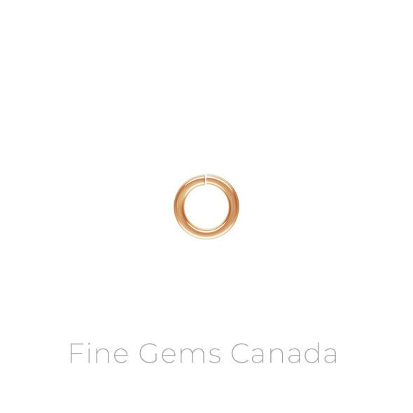 "14K Rose Gold Filled - Jump Ring .040x.240"" (1.0x6.0mm) - 20/Pack"