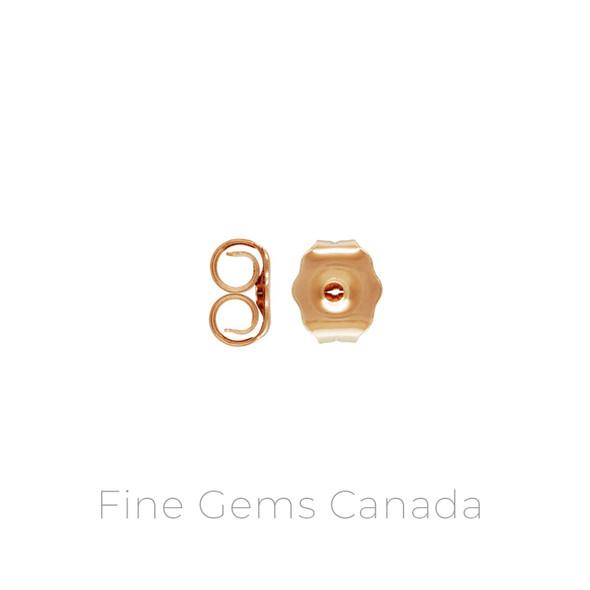 14K Rose Gold Filled - Medium 2 Earring Back (4.3x5.1mm) - 20/Pack