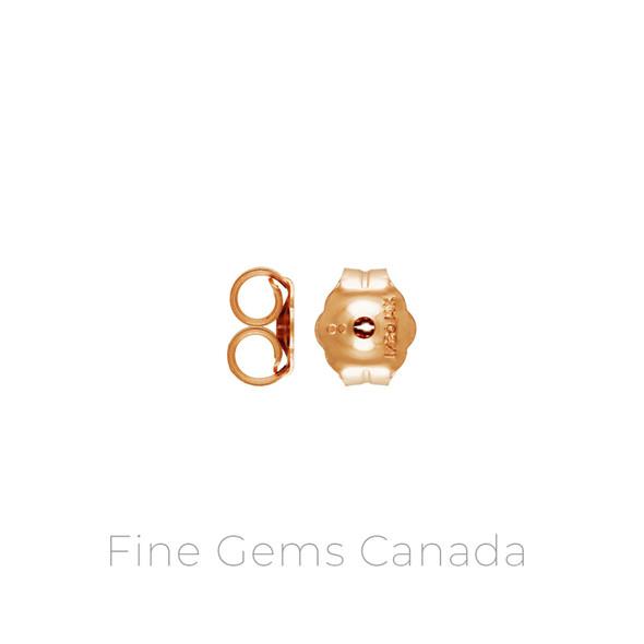 14K Rose Gold Filled - Heavy Earring Back (4.7x5.4mm) - 20/Pack