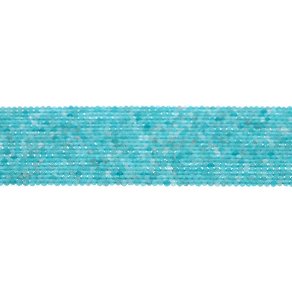 Russian Amazonite Round Faceted Diamond Cut 2mm - Loose Beads