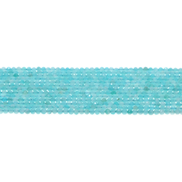 Russian Amazonite Round Faceted Diamond Cut 3mm - Loose Beads