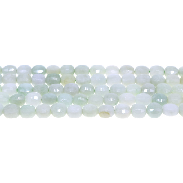Burma Jade Coin Puff Faceted Diamond Cut 8mm x 8mm x 5mm - Loose Beads